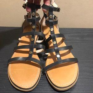 Seychelles Gladiator black sandals